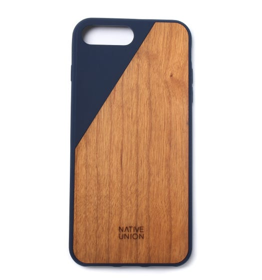 Native Union Navy Trim CLIC Wooden iPhone 7 Plus Case
