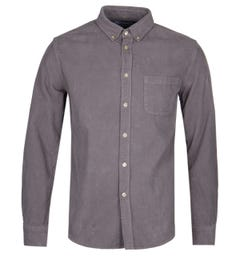 Portuguese Flannel Long Sleeve Grey Cord Button Down Shirt
