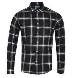 Portuguese Flannel Regular Fit Revolution Black Checked Long Sleeve Shirt