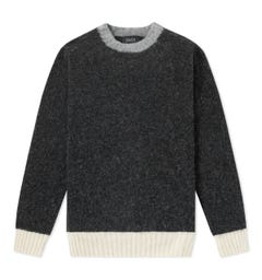 Howlin Captain Harry Contrast Charcoal Sweater