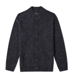 Howlin Four Eyes Charcoal Baseball Cardigan