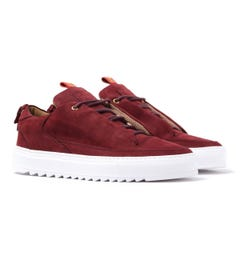 Mason Garments Red Nubuck Milano Low Trainers