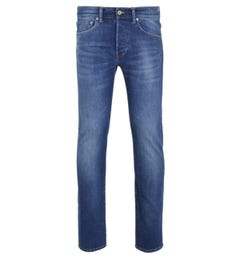 Edwin ED-80 CS Power Blue Denim Birger Wash Slim Tapered Jeans
