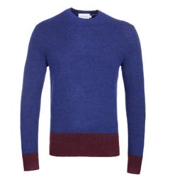 Calvin Klein Colour Blocked Brushed Pullover