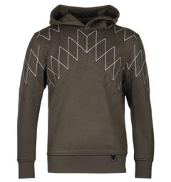 Blackbarrett Football Net Khaki Hoodie