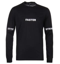 Blackbarrett Fitter Faster Long Sleeve Black T-Shirt