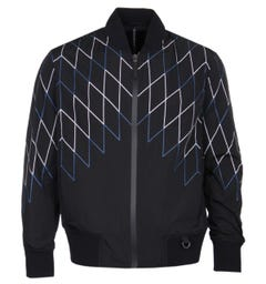 Blackbarrett Football Net Black Bomber Jacket