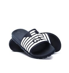 Emporio Armani Blue Night & White Sliders