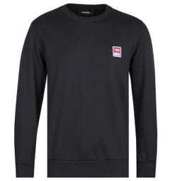 Diesel Racing D Black Logo Sweatshirt