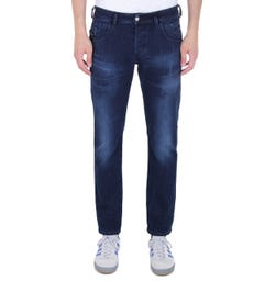 Diesel D-Bazer Tapered Fit Dark Blue Denim Jeans