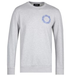Diesel Lightening Bolt Print Grey Sweatshirt
