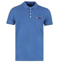 Diesel Denim Division Steel Blue Polo Shirt