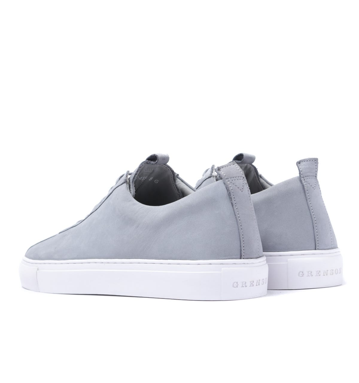 Grenson Sneaker 1 Stone Grey Suede Trainers