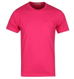 Nudie Jeans Ecru Kurt Pink Worker T-Shirt