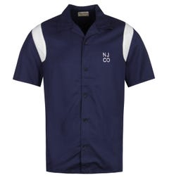 Nudie Jeans Co Jack Navy Bowling Shirt
