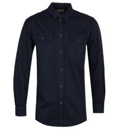 Nudie Jeans Co Gabriel Pigment Dye Navy Shirt