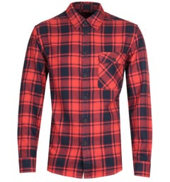 Nudie Jeans Co Sten Flannel Red Checked Shirt