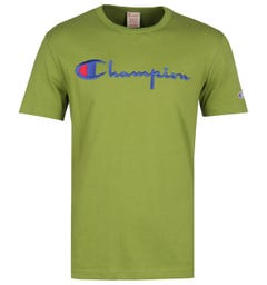 Champion Big Script Logo Pear Green T-Shirt