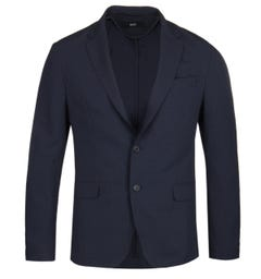 BOSS Noort-WG Seer Sucker Navy Suit Jacket