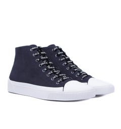 HUGO Zero High-Top CV Navy Trainers