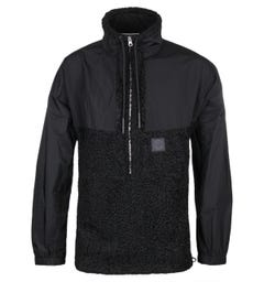 MCQ Alexander McQueen Half Zip Black Fleece Jacket