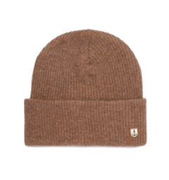 Armor Lux Logo Tab Light Brown Beanie