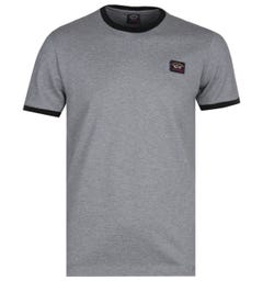 Paul & Shark Grey Pique Ringer T-Shirt