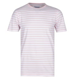 Albam Simple Stripe Pink & White T-Shirt