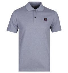 Paul & Shark Logo Grey Marl Polo Shirt