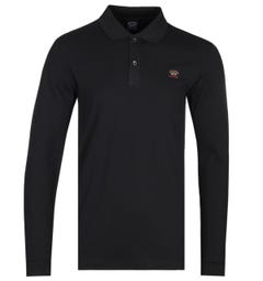 Paul & Shark Black Long Sleeve Polo Shirt