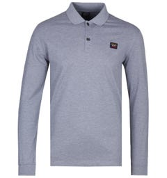 Paul & Shark Grey Long Sleeve Polo Shirt