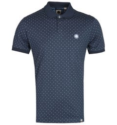 Pretty Green Polka Dot Navy Polo Shirt