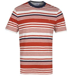 Farah Pinsley Orange Stripe T-Shirt