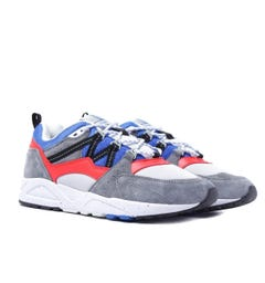 Karhu Fusion 2.0 Monument Grey & Fiery Red Suede Trainers