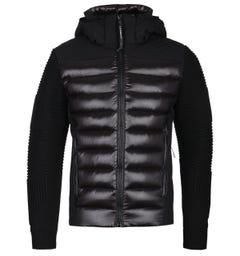 CP Company Goggle Hooded Black Knit Jacket