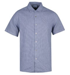 PS Paul Smith Casual Fit Short Sleeve Blue Pattern Shirt