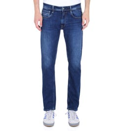 Replay Rob Straight Tapered Mid Blue Denim Jeans
