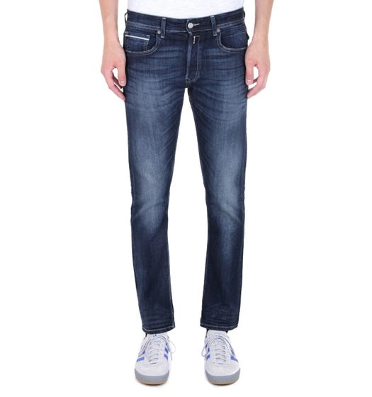 Replay Grover Straight Fit Dark Blue Wash Denim Jeans