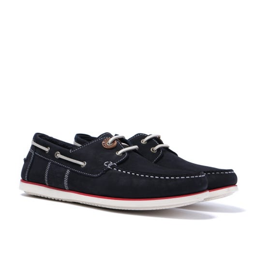 Barbour Capstan Navy Leather Boat Shoes