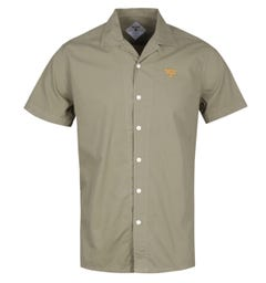 Barbour Beacon Acton Olive Green Short Sleeve Shirt
