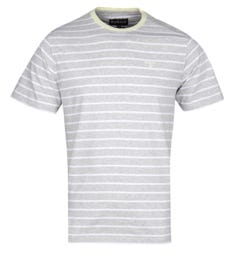 Barbour Portree Grey Marl & White Striped T-Shirt