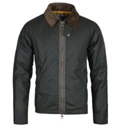 Barbour Beacon Winter Munro Green Wax Jacket