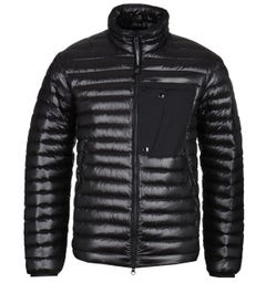 CP Company DD Shell Zip-Through Black Down Padded Jacket