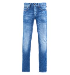 Denham Razor Left Hand Denim Washed Mid Blue Slim Fit Jeans
