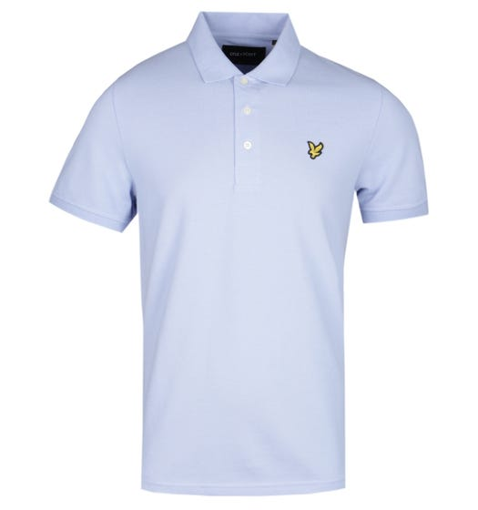 Lyle & Scott Sky Blue Pique Polo Shirt