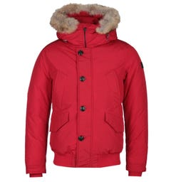 Woolrich Red Polar Down Padded Jacket
