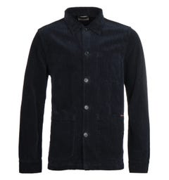 Nudie Jeans Co Barney Cord Navy Worker Jacket