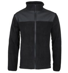 Rains Contrast Yoke Black Polar Fleece Jacket