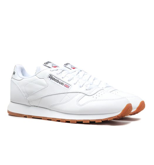 Reebok White Classic Leather Trainers
