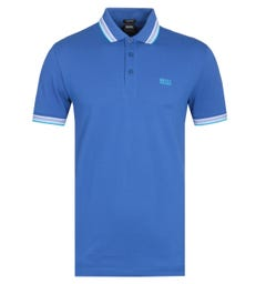 Boss Paddy Tipped Turquoise Blue Polo Shirt